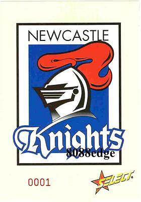 2005 Select Nrl Club Logo Jumbo Card: Newcastle Knights - Limited Edition /1500