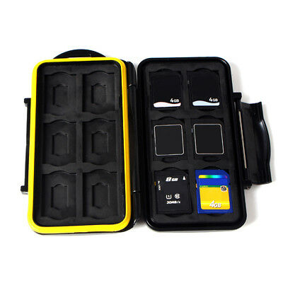 JJC Water-Resistant Anti-shock Storage Holder Memory Card Case for 12 SD cards