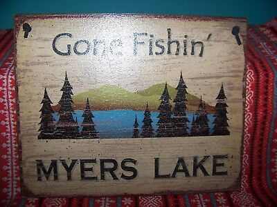 The Andy Griffith Show: Myers Lake Wooden Plaque with Corded Hangar