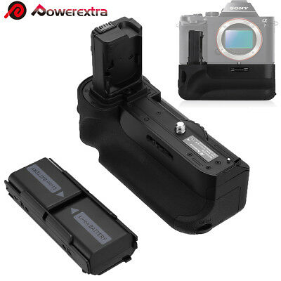 VG-C1EM Battery Grip + 2x Replacement NP-FW50 Batteries for Sony A7 A7R A7S DSLR