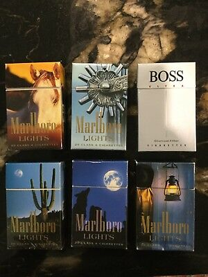 Marlboro and Boss cigarette packets
