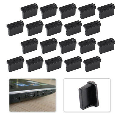 20x Black Soft Rubber A Type Anti Dust Female USB Stopper Cover Protector Plugs