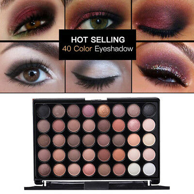 40 Colors Cosmetic Matte Eyeshadow Cream Eye Shadow Makeup Palette Shimmer Set