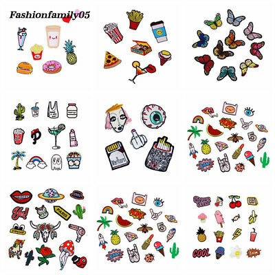 Cartoon Flower Applique Embroidery Patches Patch Fabric Sew on Sticker Clothes