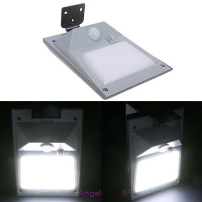 Solar Power Fence Wall Lights 18 LED PIR Motion Sensor Outdoor Garden Bright