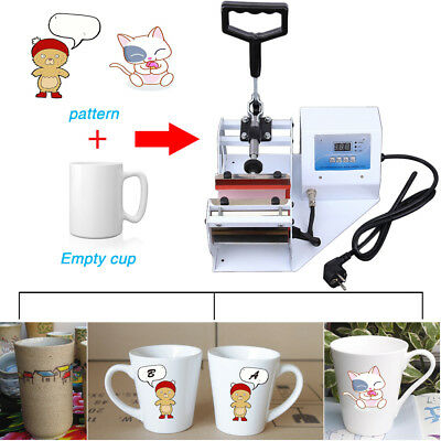 Digital Display Heat Press Transfer Sublimation Machine for 11oz. Cup Coffee Mug