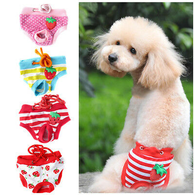 Puppy Pet Dog Diaper Pants Physiological Sanitary Hygienic Short Panty Underwear