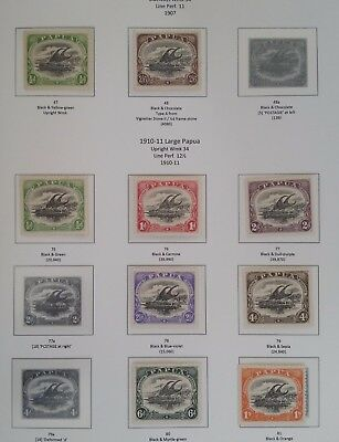RARE 1909-10 Papua lot of 9 Laketoi stamps Large Papua Mint