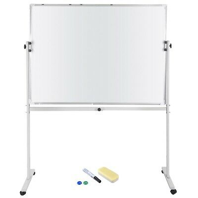 "48""x36"" Magnetic Writing Whiteboard Double Side Dry Erase w/ Adjust Mobile Stand"