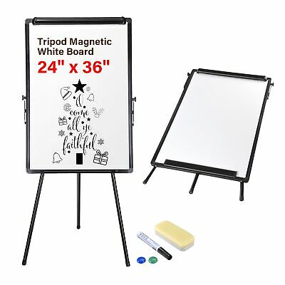 Magnetic Writing Whiteboard w/ Adjustable Stand Home Office Trade Show Size Opt