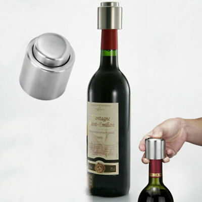 Stainless Steel Vacuum Sealed Red Wine Storage Bottle Stopper Plug Champagne