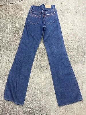vtg 70's NOS NEW Levis  24 x 32 student jeans flare orange tag 734