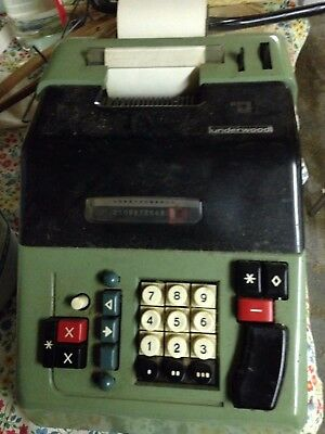 Underwood Vintage Adding Machine/electronic Calculator