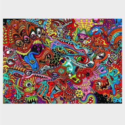 Psychedelic Trippy Art poster Abstract Silk Art Poster Prints Wall Painting 019