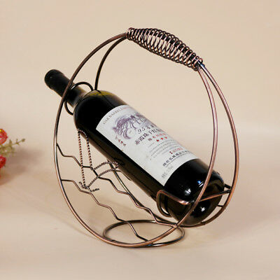 1Pcs Metal Handwork Wine Shelf Mediterranean Style Hot New Fashion