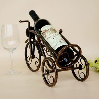 1Pcs Retro Metal Wine Shelf Rack Holder Tricycle Shape Red Wine Hot