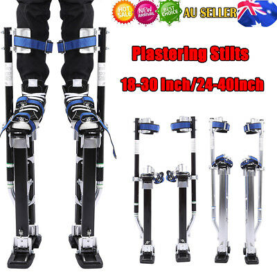 "18-40"" Adjustable Aluminum Plastering Stilts Drywall Tools Painter Builders"