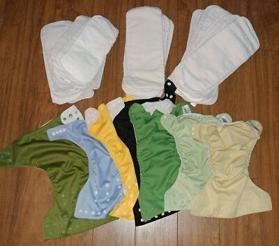 Lot of Pocket Cloth Diaper Covers and Inserts BumGenius and Other NEED ELASTIC