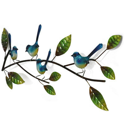 Perched Blue Wren On A Branch Metal Wall Art Wrens Bird Sculpture Hanging