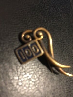 silver 100 badge hallmarked