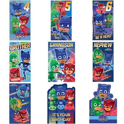 PJ Masks Birthday Cards (Assorted)