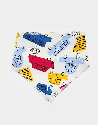 Joules Bibby Neckerchief Bib in Multi Car in One Size