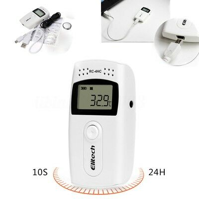 RC-4 USB Temperature Data Logger Record High Accuracy Datalogger 16000 Points US