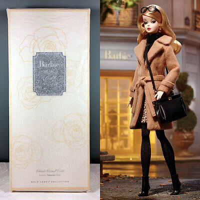2016 Classic Camel Coat Barbie Doll - BFMC Gold Label Silkstone - NRFB in Tissue