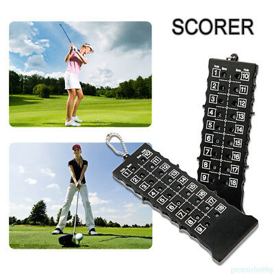 18 Hole Plastic Stroke Shot Putt Score Counter Scoring Keeper Card Key Chain YX