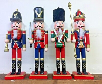 Hand Painted Wooden Nutcracker Soldier Traditional Christmas Ornament 4 Designs