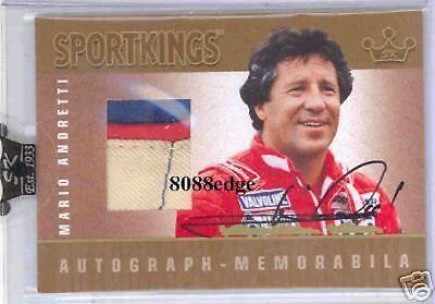 2007 Sport Kings Race-Worn 3Cl Patch Auto: Mario Andretti /10 Autograph Relic