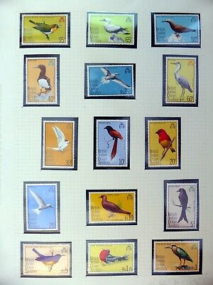 BRITISH INDIAN OCEAN TERRITORY 1975 Birds Complete U/M NB3491