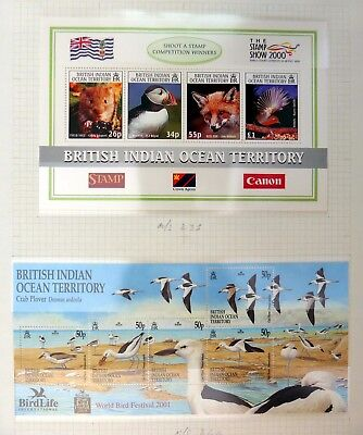 BRITISH INDIAN OCEAN TERRITORY Birds on 2 Pages U/M NB3493