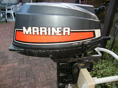 5 HP Mariner Air Cooled Long Shaft with Short Shaft Spare