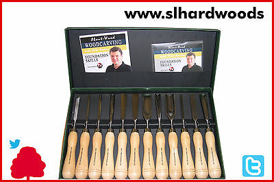 Woodcarving Record Power 12pc Chisel Set with Educational Booklet & DVD