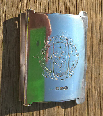C1894 Antique Chester Sterling Silver England Belt Buckle  William Neale