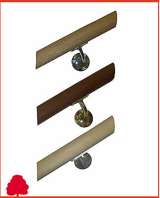 Oak Handrail Round Mopstick 44mm Unfinished - Choice of Lengths