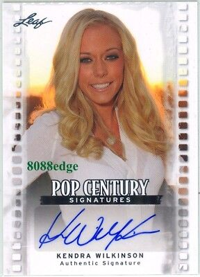 2011 Leaf Pop Century Autograph Auto: Kendra Wilkinson - Playboy Girls Next Door