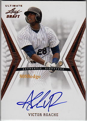 2012 Leaf Ultimate Draft Baseball Auto: Victor Roache - Autograph Brewers Rc