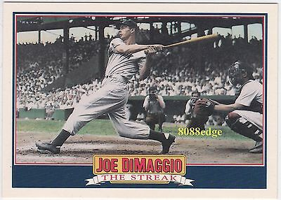 "1992 SCORE BASEBALL JOE DiMAGGIO INSERT #4 OF 5 ""THE STREAK"" - MOST ICONIC IMAGE"