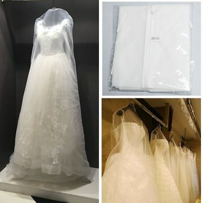 Breathable Bridal Wedding Dress Cover Garment Clothes Suite Storage Zip Bag 70""