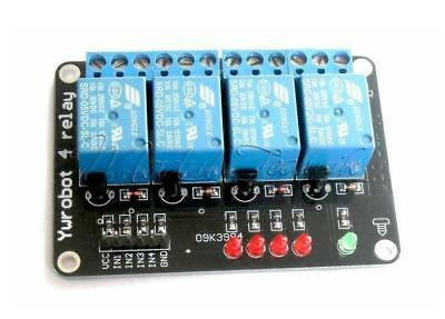 Relay Module 5v 4 Channel Indicator Light LED Arduino PIC ARM DSP AVR Relais