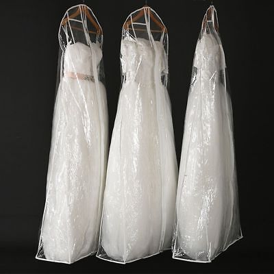 Showerproof Bridal Wedding Dress Cover Garment Clothes Suite Storage Zip Bag UK