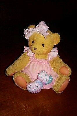 """Cherished Teddies 1992 """"Hearts Quilted With Love"""" Amy Bear"""
