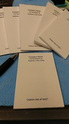 CUSTOM PRINTED NOTEPADS! 8 pads with 25 pages per pad! Personal or Businesses!