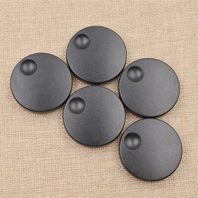 5 Pcs Plastic Knobs Black Round Coding Shafts Axle Shaft Rotary Encoder Caps