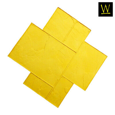 Imperial Ashler Slate   Single Concrete Stamp by Walttools (Yellow, Rigid)