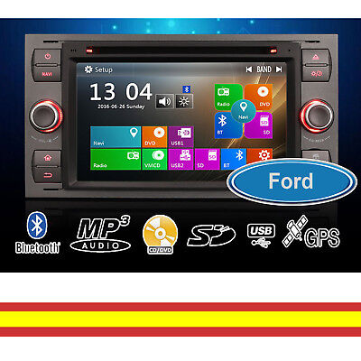 Radio Navegador para Ford Fiesta Fusion Kuga Transit Connect Bluetooth MP3 USB