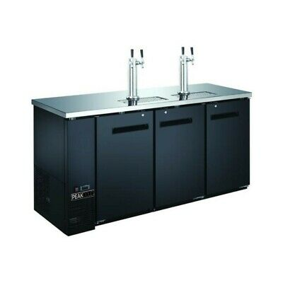 "72"" 3-Door Beer Dispenser - Kegerator"