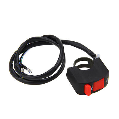 """7/8"""" Motorcycle Handlebar Scooter ATV Dirt Bike Kill Stop ON-OFF Button Switch Y"""
